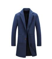 Printemps automne business casual blazer hommes grande taille tranchée manteau style britannique pardessus masculin manteau long homme noir rouge gris bleu