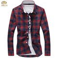 Chemise homme miuk plus size xadrez 5xl 4xl marca-algodão clothing Camisa Dos Homens Slim Fit Marca 2017 Nova Camisa de Manga Longa Masculina