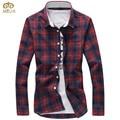 MIUK Plus Size Plaid Chemise Homme 5XL 4XL Brand-clothing Cotton Slim Fit Brand Men Shirt 2017 New Long Sleeve Camisa Masculina
