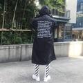 VETEMENTS POLÍCIA OVERSIZED Trench Coat Chuva Bigbang GD Carta Seul Homens Blusão Jaqueta KANYE Hip Hop Skate À Prova D' Água