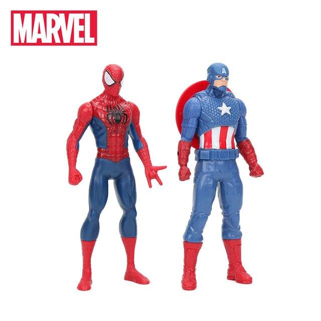 Original Marvel Brinquedos 15 centímetros the Avengers Super Hero Spiderman Hulk Ironman Capitão América Ação PVC Figura Coleção Toy Modelo