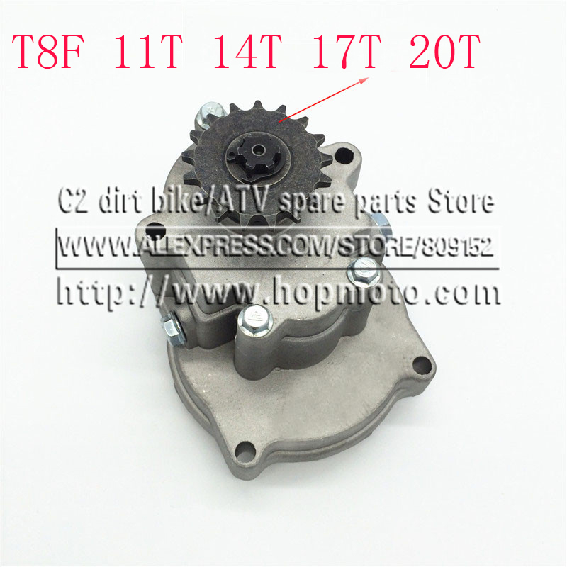T8F 11T 14T 17T 20T Tooth Clutch Drum Gear Box Sprocket 33cc 43cc 49cc Ty Rod II Go Kart Mini Moto Dirt Bike Scooter Xtreme