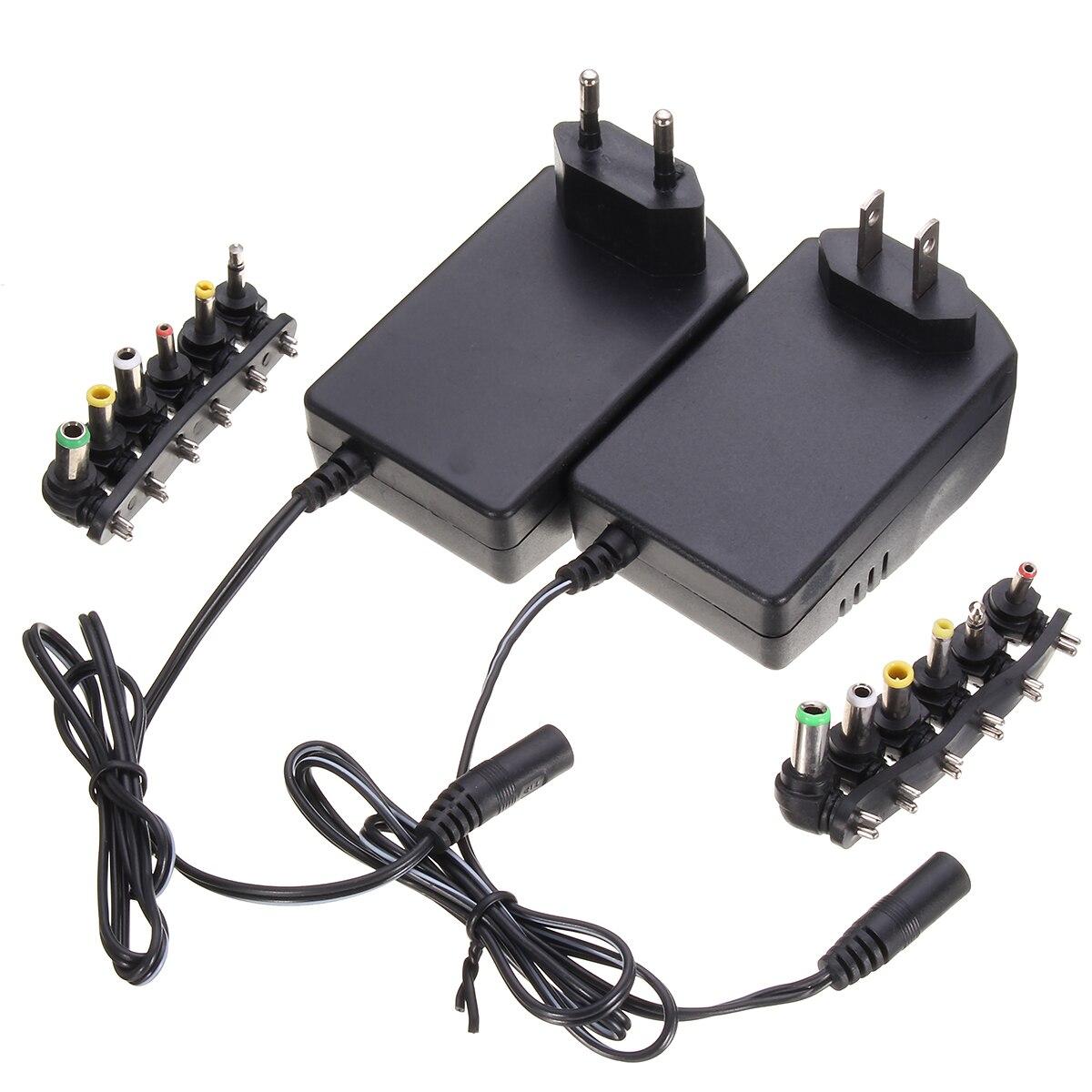 Multi Voltage 3v 4.5v 5v 6v 9v 12v DC Adaptor Adjustable Power Adapter Universal Charger Power Supply Converter Cable 6 Plugs