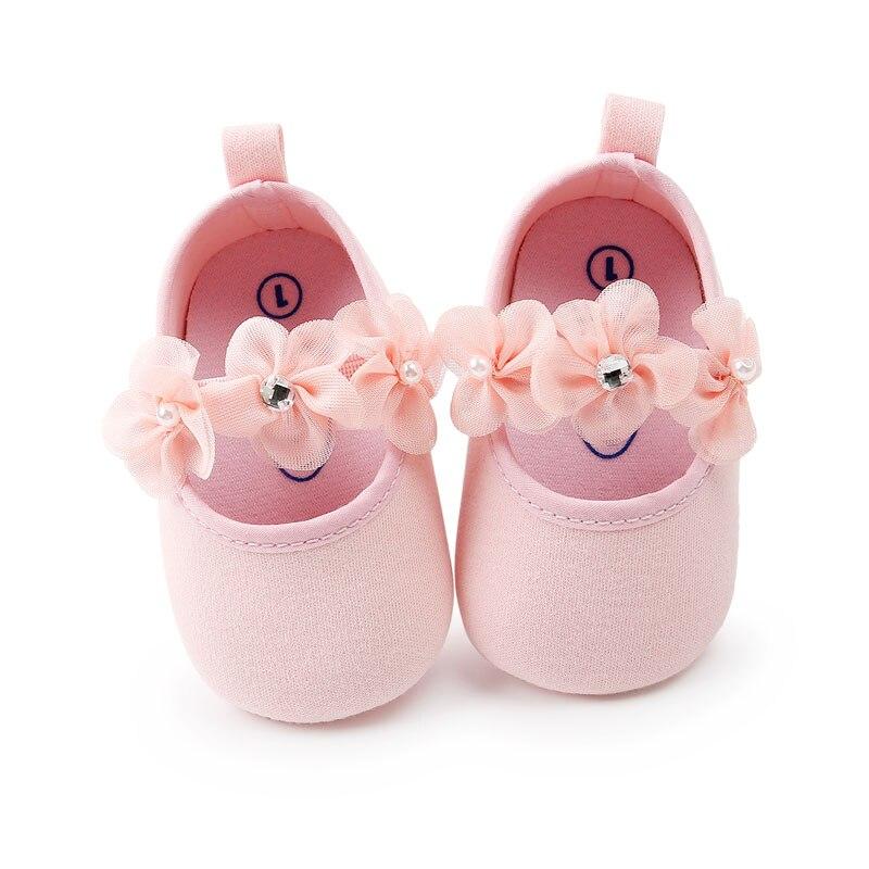8f09ee09c 0-18 m niño bebé niña suave suela princesa zapatos encantador flor estilo  infantil Prewalker recién nacido Bebé Zapatos para niñas