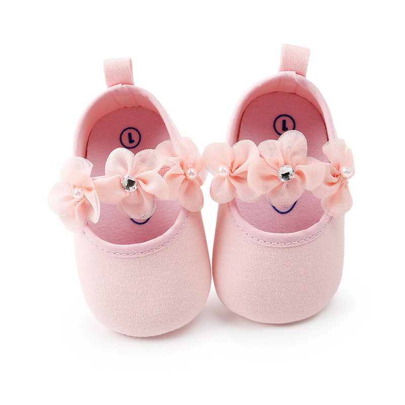 0-18M Toddler Baby Girl Soft Sole Princess Shoes Lovely Flower Style Infant Prewalker Newborn Baby Shoes For Girls
