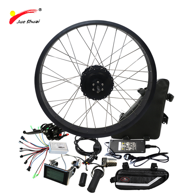 48V 1000W Eletric Bike Conversion Kit Suit For Fat Tire SAMSUNG Lithium Battery  S900 LCD Display Motor Wheel 20 26 Brushless