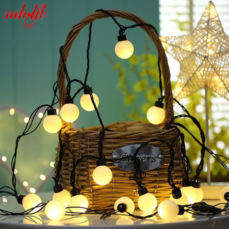 Waterproof LED Ball String Lights Curtain garland lamps fairy wedding Indoor Outdoor New Year Christmas Tree Holiday Lighting pine tree snowscape pattern waterproof shower curtain
