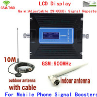 High Quality Adjustable 29 60DBi GSM Mobile Phone Signal Repeater 900mhz Booster Amplifier Extender Cell Signal