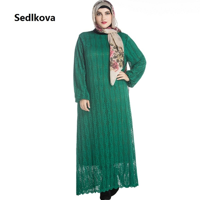 sedlkova dress/2017 muslim women plus size long sleeve dubai maxi