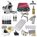Cheap Beginner Tattoo Kit 1 tattoo Guns Set Tattoo Power Supply Free Shipping