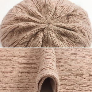 Image 5 - 3 PC Womens Winter Knitted  Hat Cap Hat Scarf Glove Sets Fashion Twist Stripes Cap Gorros Bonnet Wool Hand knitting Scarf