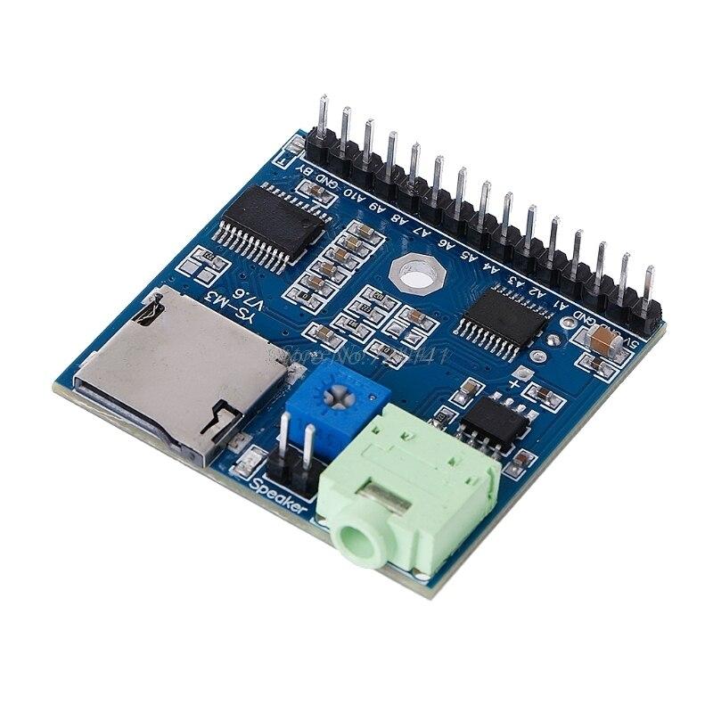MP3 Voice Module SD/TF Voice Broadcast Trigger Player + Speaker F MCU SCM UIMP3 Voice Module SD/TF Voice Broadcast Trigger Player + Speaker F MCU SCM UI