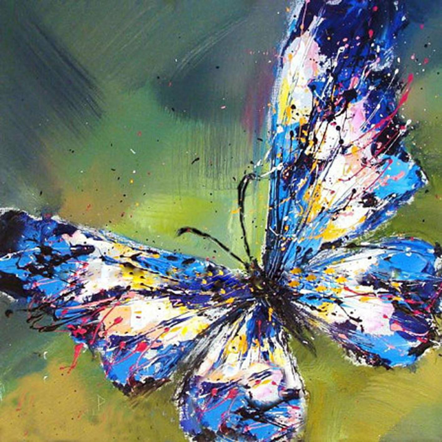 5D Full Diamond cross stitch Abstract butterfly Diy ...