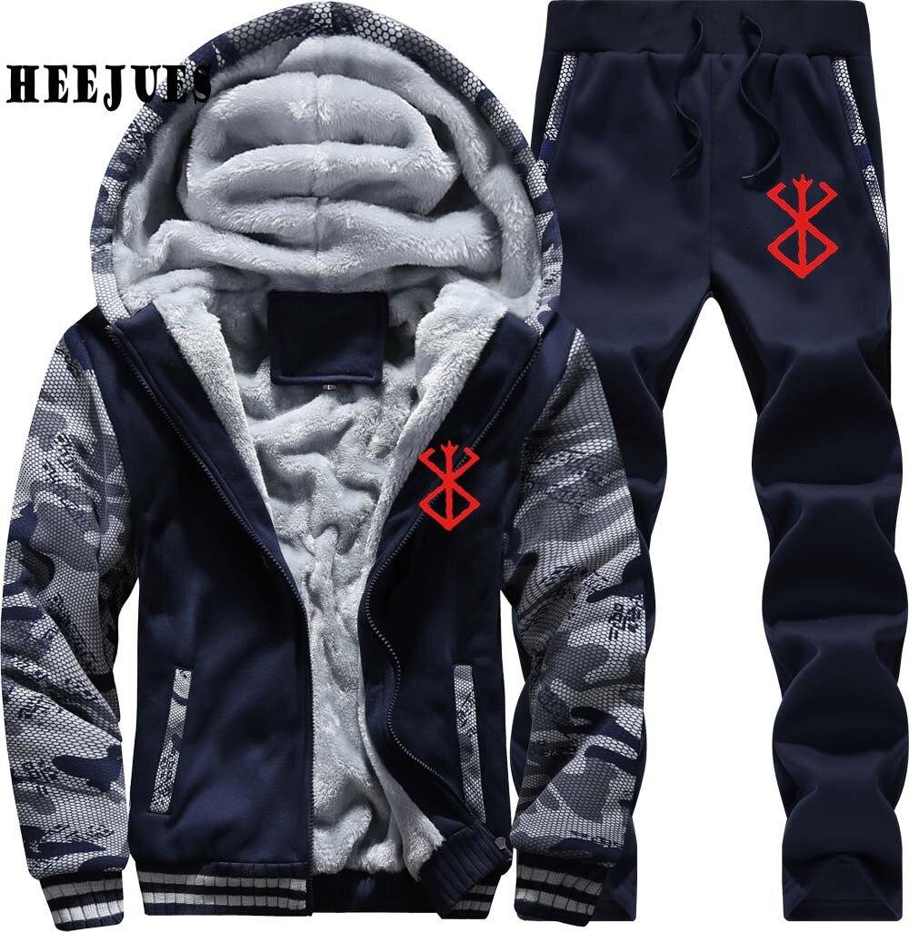 Vestes marine Zipper Manteaux De Casual Shipping Hommes Imprimé Hoodies Berserk Drop Bleu Nouveau ardoisé Gris Logo Pantalon Sweats D'hiver 1OSxTqz