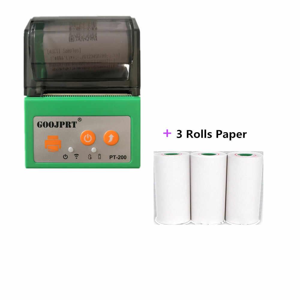 GOOJPRT абсолютно новый мини термопринтер штрих-код QR код этикетка принтер одежда метки цена супермаркета стикер Принтер