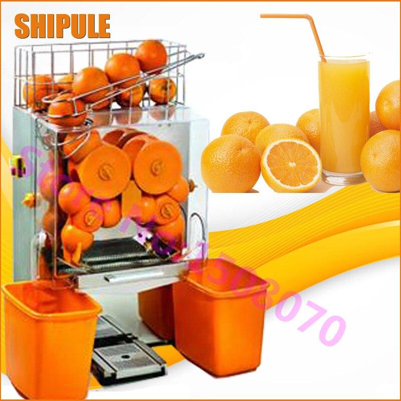 Máquina exprimidora de naranja comercial de acero inoxidable completamente automática SHIPULE, eléctrica E-1 máquina de fabricación de jugo de naranja precio