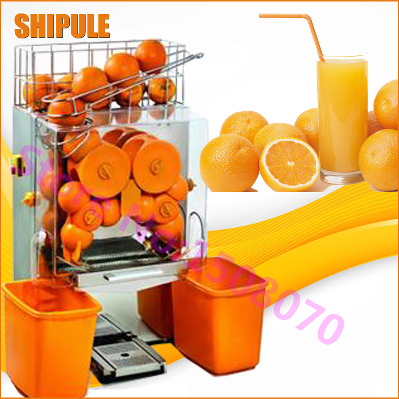 SHIPULE Entièrement automatique en acier inoxydable commercial orange juicer machine, électrique 2000E-1 ORANGE jus faisant la machine prix