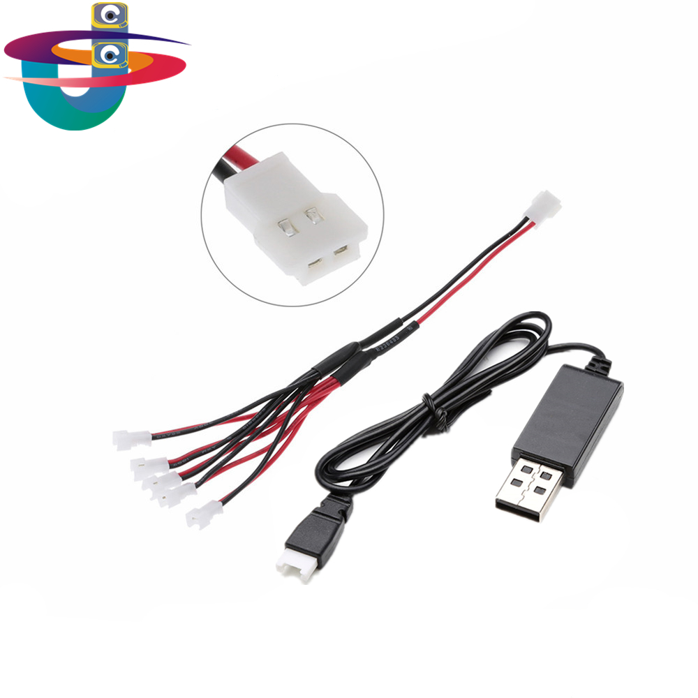 3.7V lipo Battery 1s USB lipo charger Line for Syma X5C X11 X13 X5SC X5SW Hubsan H107 with 1.25 connector H20 Battery image