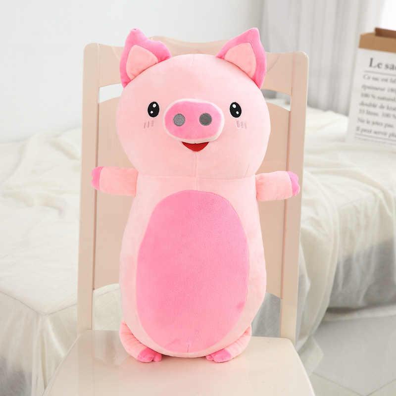 60 cm/85 cm/unids Animal de la felpa almohada suave almohada para bebé de peluche sofá cojín de peluche perro gato cerdo muñecas regalos para los niños