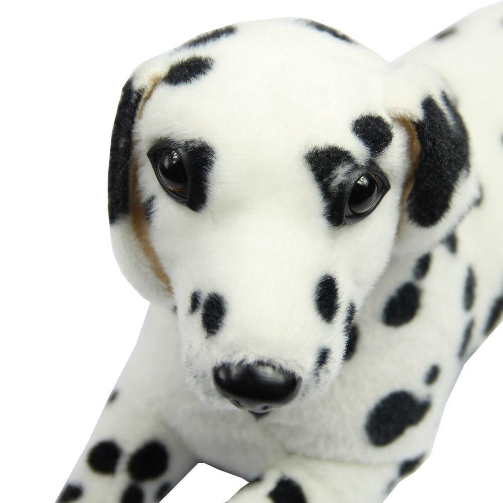 ABWE New Lovely Stuffed Toys Dalmatians Simulation Dog Plush Animal Gift [Toy] 25cm soft toy poodle pillow cartoon cute poodle dog plush toy fabric stitch stuffed plush dog animal toys for children gifts