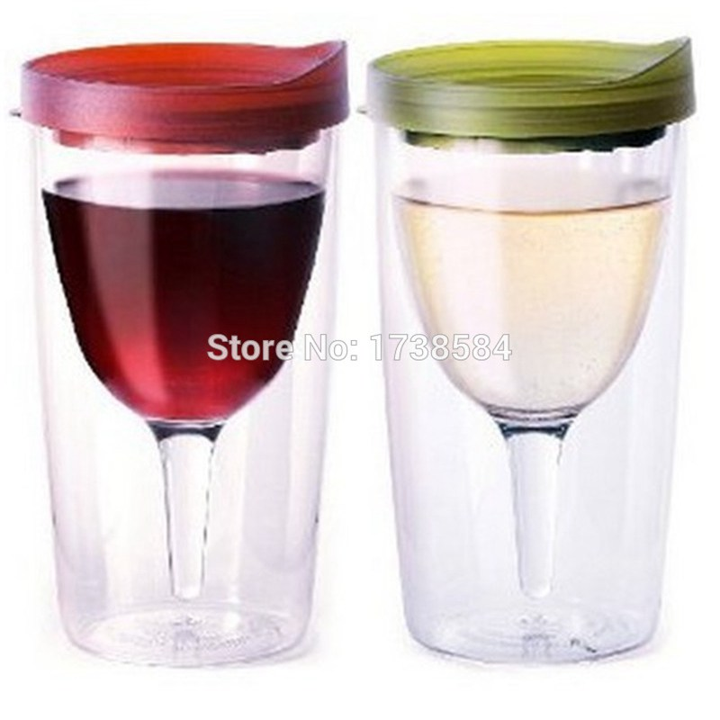 12oz red wine glass tumbler acrylic plastic mug with lid vadka beer set useable bar sets