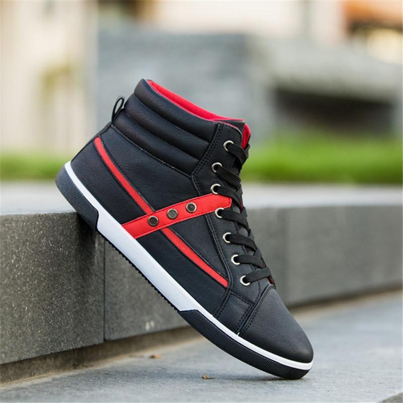 Dwayne 2018 Mens Vulcanized Shoes Spring/autumn Men Shoes High Quality Lace-up High Pipe Retro High-top Mens Canvas Shoes Evident Effect Men's Shoes