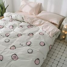 Cute cartoon bedding set teen child,twin full queen king cotton single double home textile bed sheet pillow case quilt cover