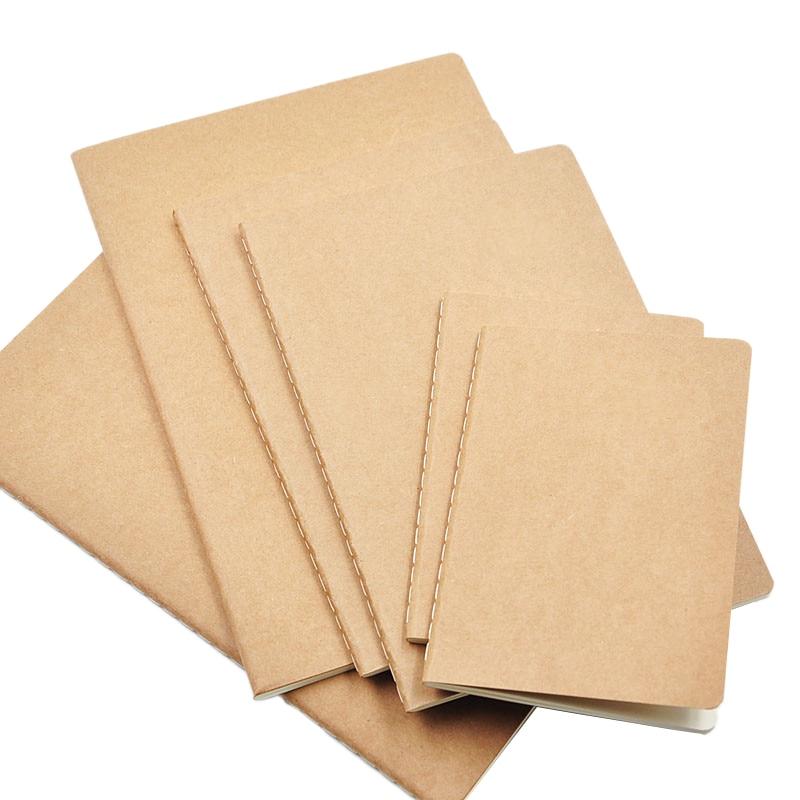 1 Pcs Cowhide Paper Notebook Blank Notepad Book Vintage Soft Copybook Daily Memos Kraft Cover Journal Notebook