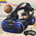 Blu-Ray VR Виртуальная реальность 3D очки коробка стерео VR Google картонная гарнитура шлем для IOS Android смартфонов, Bluetooth рокер