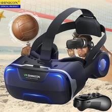 Blu Ray VR Virtual Reality 3D Glasses Box Stereo VR Google Cardboard Headset Helmet for IOS Android Smartphone,Bluetooth Rocker