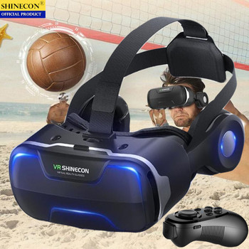 Blu-Ray VR Virtual Reality 3D Glasses Box Stereo VR Google Cardboard Headset Helmet for IOS Android Smartphone,Bluetooth Rocker pimax 4k virtual pc glasses vr 3d box glasses video helmet cardboard with headphone with auto light adjustment