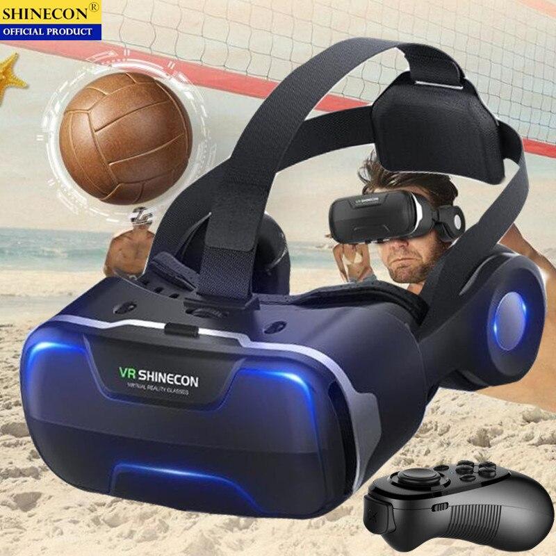 Blu-Ray VR Virtual Reality 3D Glasses Box Stereo VR Google Cardboard Headset Helmet for IOS Android Smartphone,Bluetooth Rocker