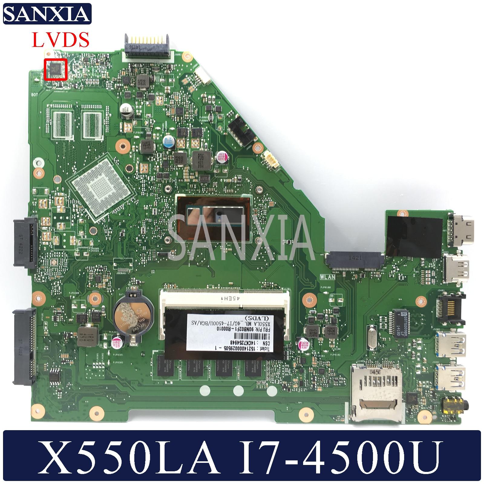 KEFU X550LD Laptop motherboard for ASUS X550LA X550LC X550LN original mainboard 4G RAM I7 4500U