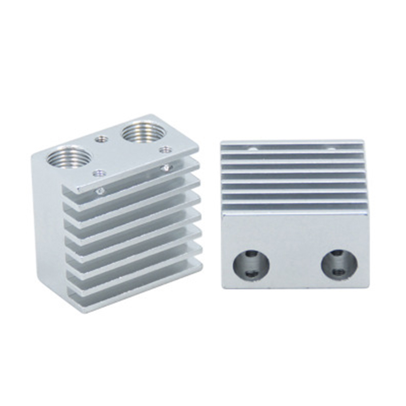 3D Printer Chimera E3D V6 2 in 1 out extruder Aluminum print head 0.4mm for 1.75mm filament heat block + heat sink extruder kit