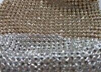 Pretty Bling Bling Glitter 22x20cm Full Rhienstone Metal Mesh Fabric Metallic Cloth Metal Sequin Sequined Fabric