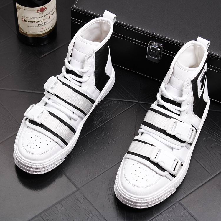 ERRFC 2019 Spring New Mens Fashion Casual Shoes High Top Breathable Man Leisure Canvas Shoes Double