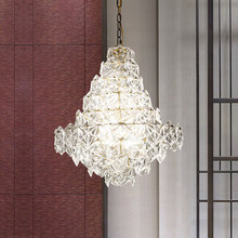 LED Modern Crystal Glass Chandeliers Lights Fixture American Chandelier Home Indoor Lighting Dining Room Restaurant Hanging Lamp modern creative spider chandeliers lights fixture white black nordic stretchable working drop light home indoor hanging lamp led