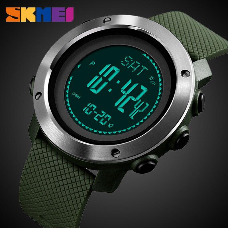 SKMEI Multifunktions Outdoor Uhr Analog Männer Sport Elektronische Uhr Temperatur Höhenmesser Kompass Wasserdichte Digitale Armbanduhr