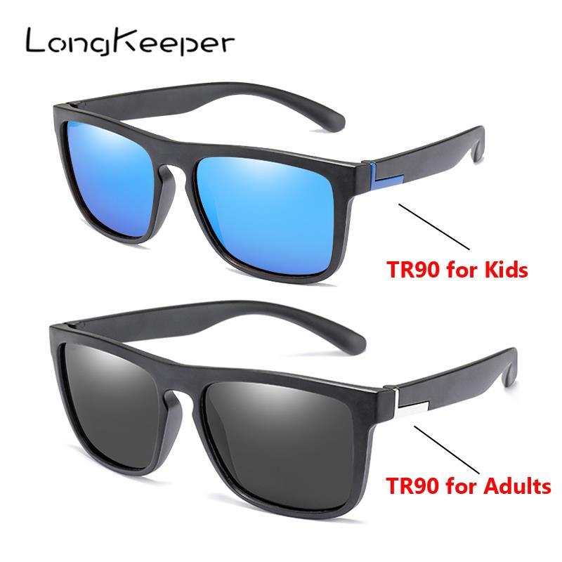 LongKeeper Kids/Adults TR90 Polarized Sunglasses Women Square Flexible Driving Sun Glasses UV400 Men Women Goggles Gafas de sol