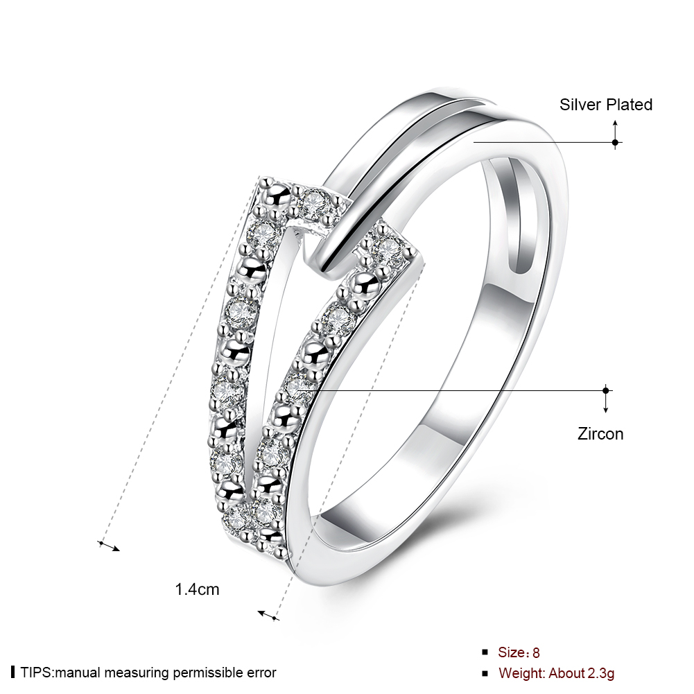 Rings For Women Stainless Steel 8 Silver Plated lekani SPCR128 Fashion popular ring