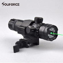 Taktis Berburu Rifle Airsoft Crossbow Green Laser Sight untuk 20mm Rail Cepat Lepaskan Gunung dengan Remote Switch