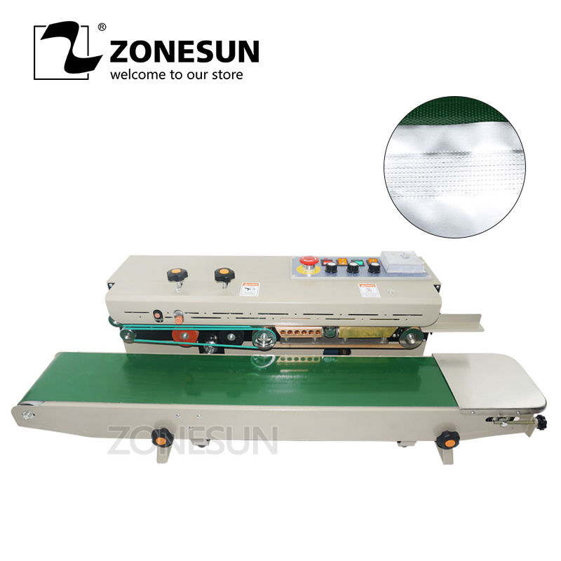 ZONESUN 1000 Continuous Sealing Machine Large M Plastic Bag Soild Ink Band Sealer Expanded Food Band SealerZONESUN 1000 Continuous Sealing Machine Large M Plastic Bag Soild Ink Band Sealer Expanded Food Band Sealer
