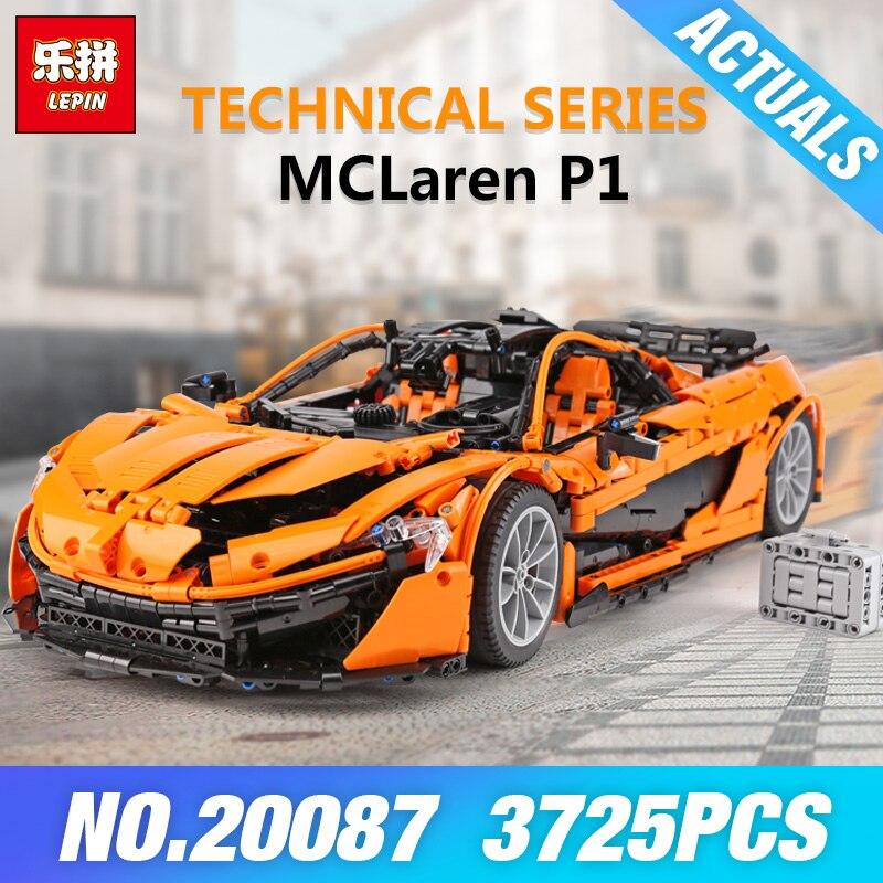 DHL Lepin 20087 Technic Toys The MOC-16915 Arancione Super Auto Da Corsa Set di Blocchi di Costruzione di Mattoni Giocattoli Per Bambini Modello Regalo Di Natale