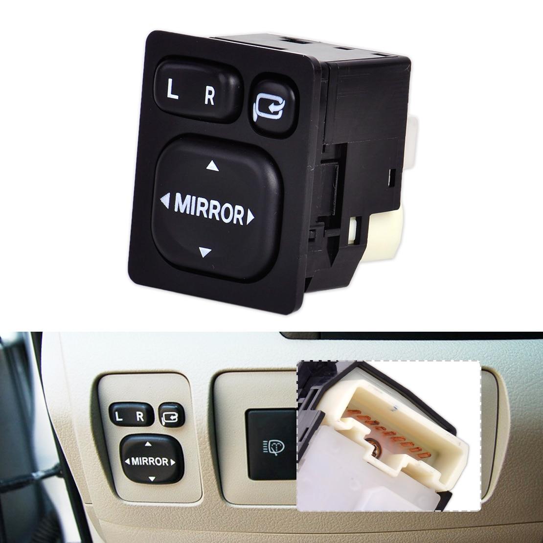Dwcx 9 pin автомобиля вне Пластик зеркало заднего вида Мощность кнопка включения Управление 84872-52040 84870-0P010 для Toyota Camry rav4 Vios