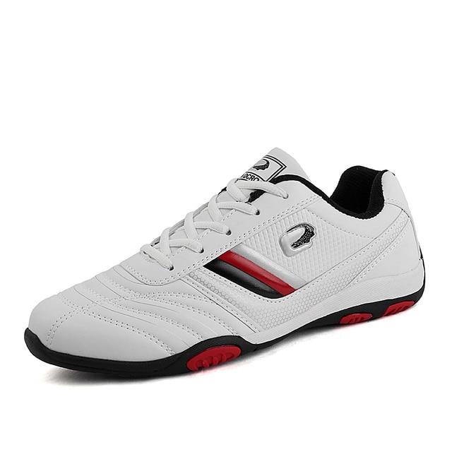 design senza tempo b683c c7d95 US $27.03 44% di SCONTO|Mens scarpe sportive in pelle Cina scarpe Da Tennis  di Sport Non Slip Corsa e Jogging Degli Uomini di Scarpe Da Indossare ...