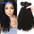 Ивонн Бразильские Странный Вьющиеся Волосы 4 Пучки Необработанные Виргинский Бразильский Странный Вьющиеся Плетение Волос Топ 7А Норки Бразильский Человеческих Волос