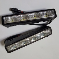 CNLM High Quality 2 Pcs Car Drl Daytime Running Light Front Daylight 4 LED Fog Lamp