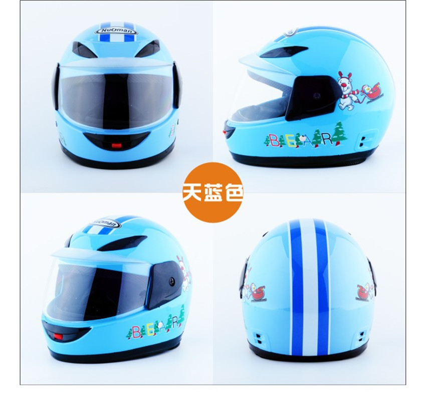 blue children motocross ful face helmet motorcycle kids helmets motorbike childs MOTO safety headpiece