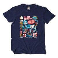 Summer New Anime Cool Rick Morty Print Men T Shirt Peace Among Worlds Folk T Shirt