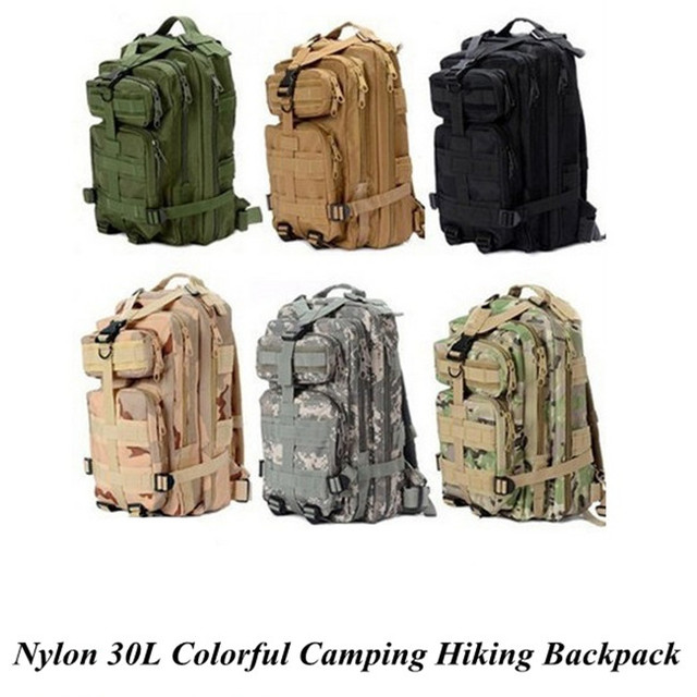 9b6720fef5c3 2017 New 1000D Nylon 8 Colors 30L Waterproof Outdoor Military Rucksacks  Tactical Backpack Sports Camping Hiking Trekking Fishing